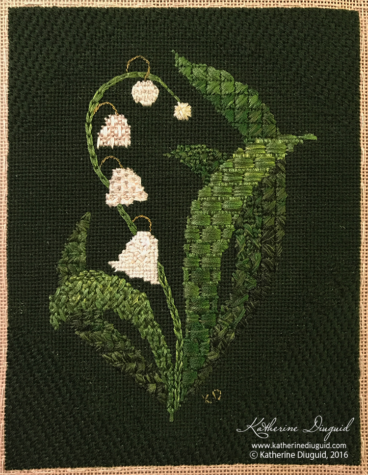 Lily of the Valley Canvaswork
