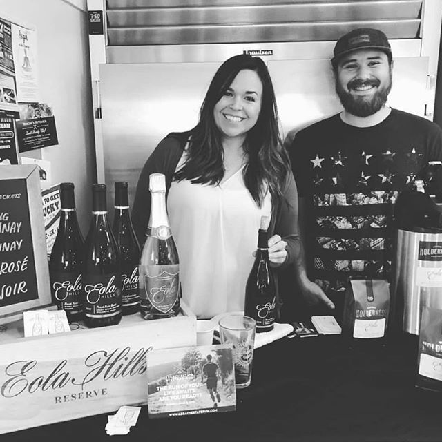 The wine walk was a blast, we loved having Katie from @eolahills back for this collaboration with them. If you didn't get a chance to try the Pinot Noir Barrel aged coffee don't fret, we will have a limited release of 12oz bags available online, at the @coffeecultureor locations and at the Eola Hills tasting room in Rickreal!