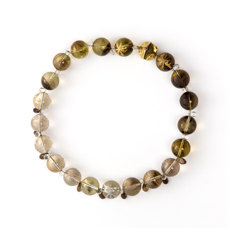 """Golden Chestnuts"" Necklace"