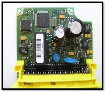 Photo of airbag control module