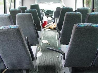 Shuttle Bus Interior Safety.