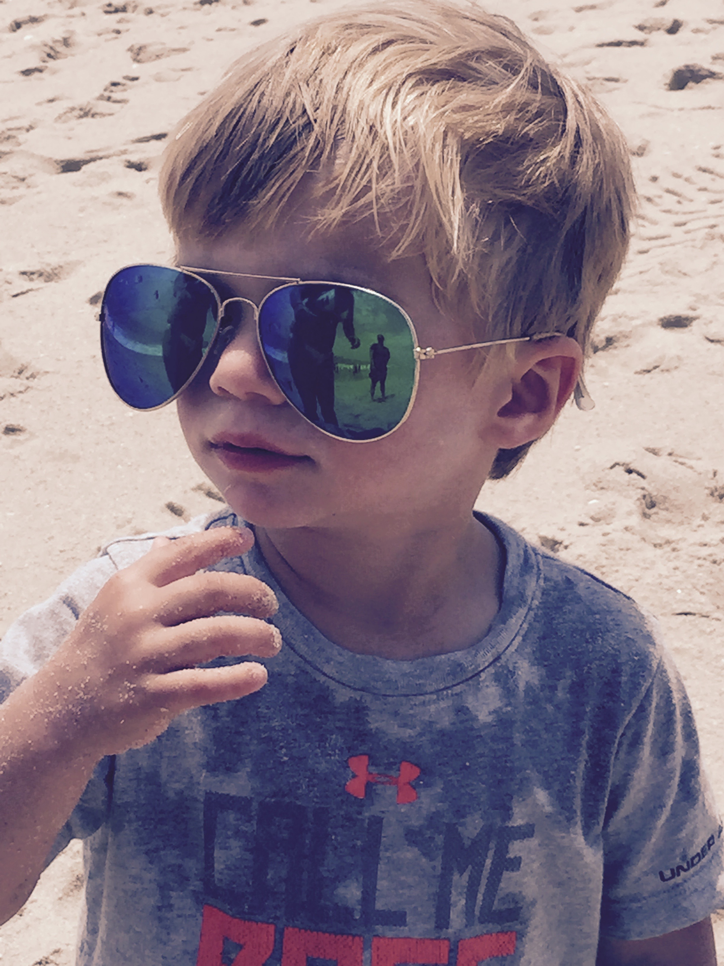 This is my son at the beach in New Jersey