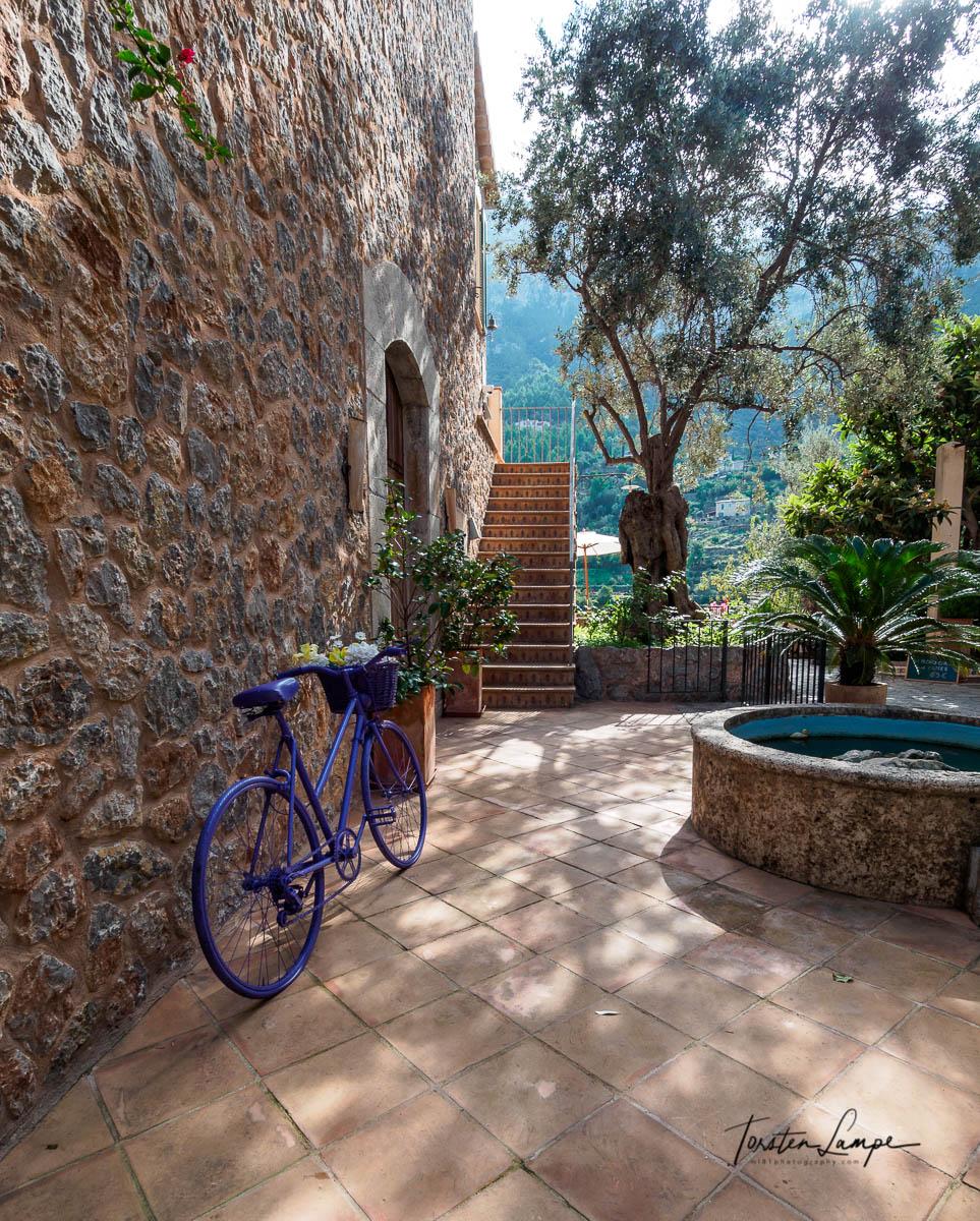 Backyard in Deià