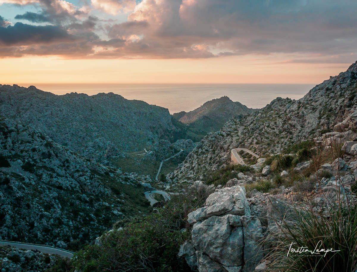 View from Coll dels Reis to Sa Calobra