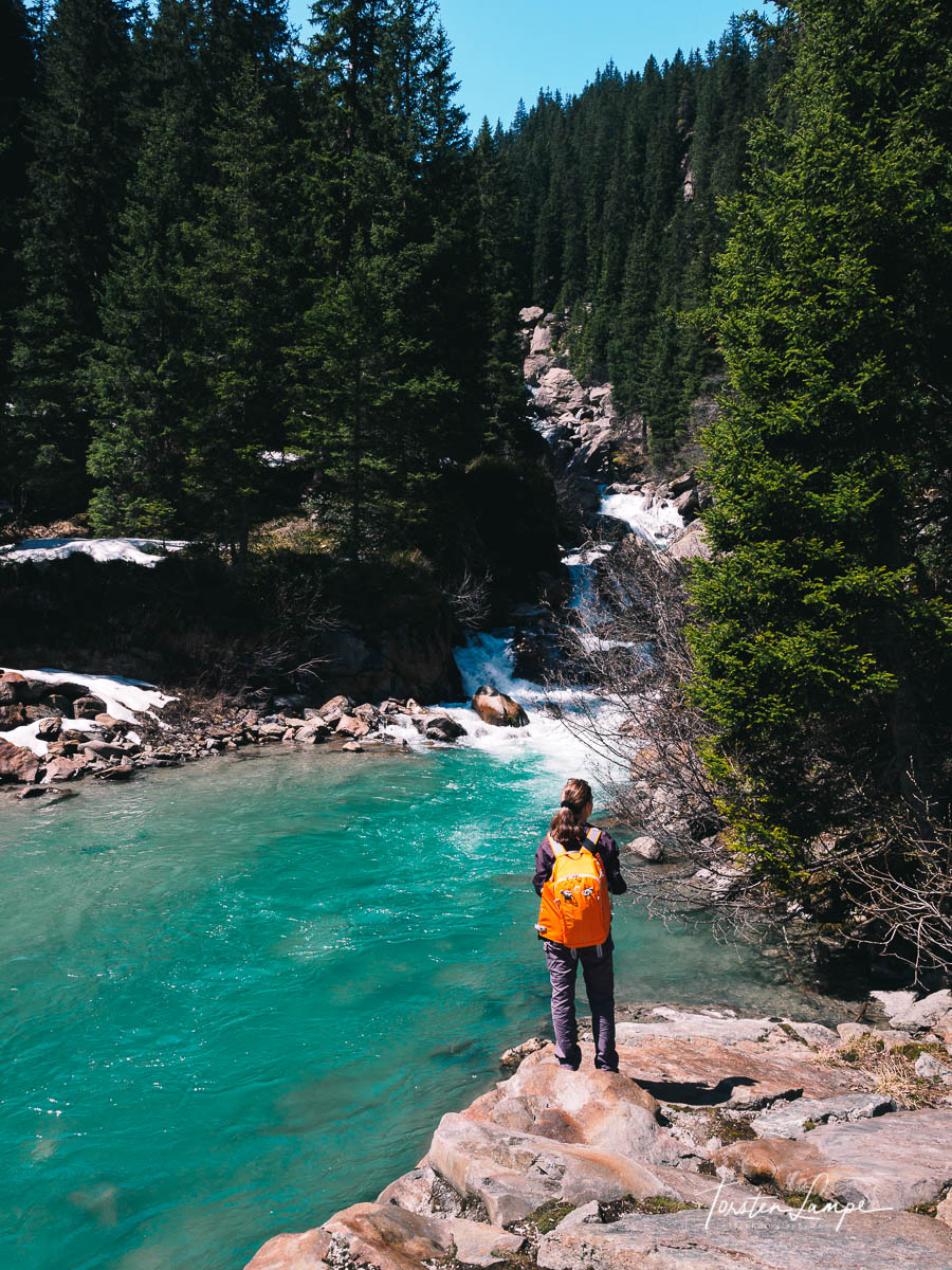Love the color of water up in the mountains.