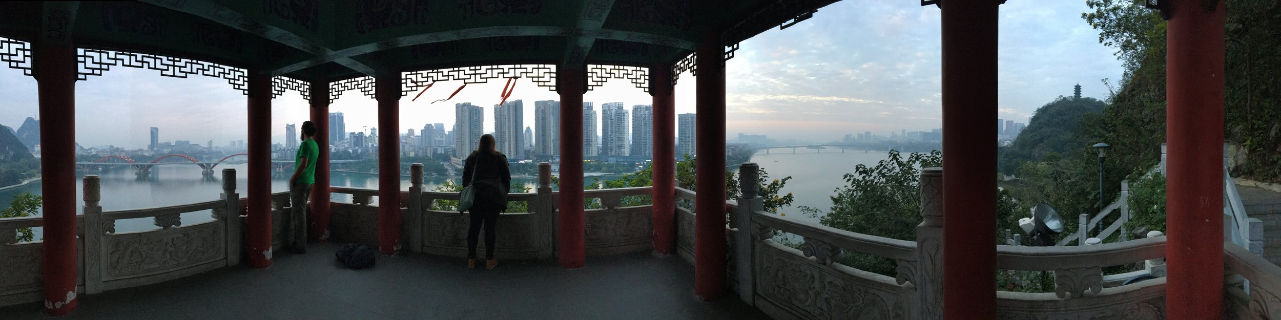 John and Liz overlooking Liuzhou