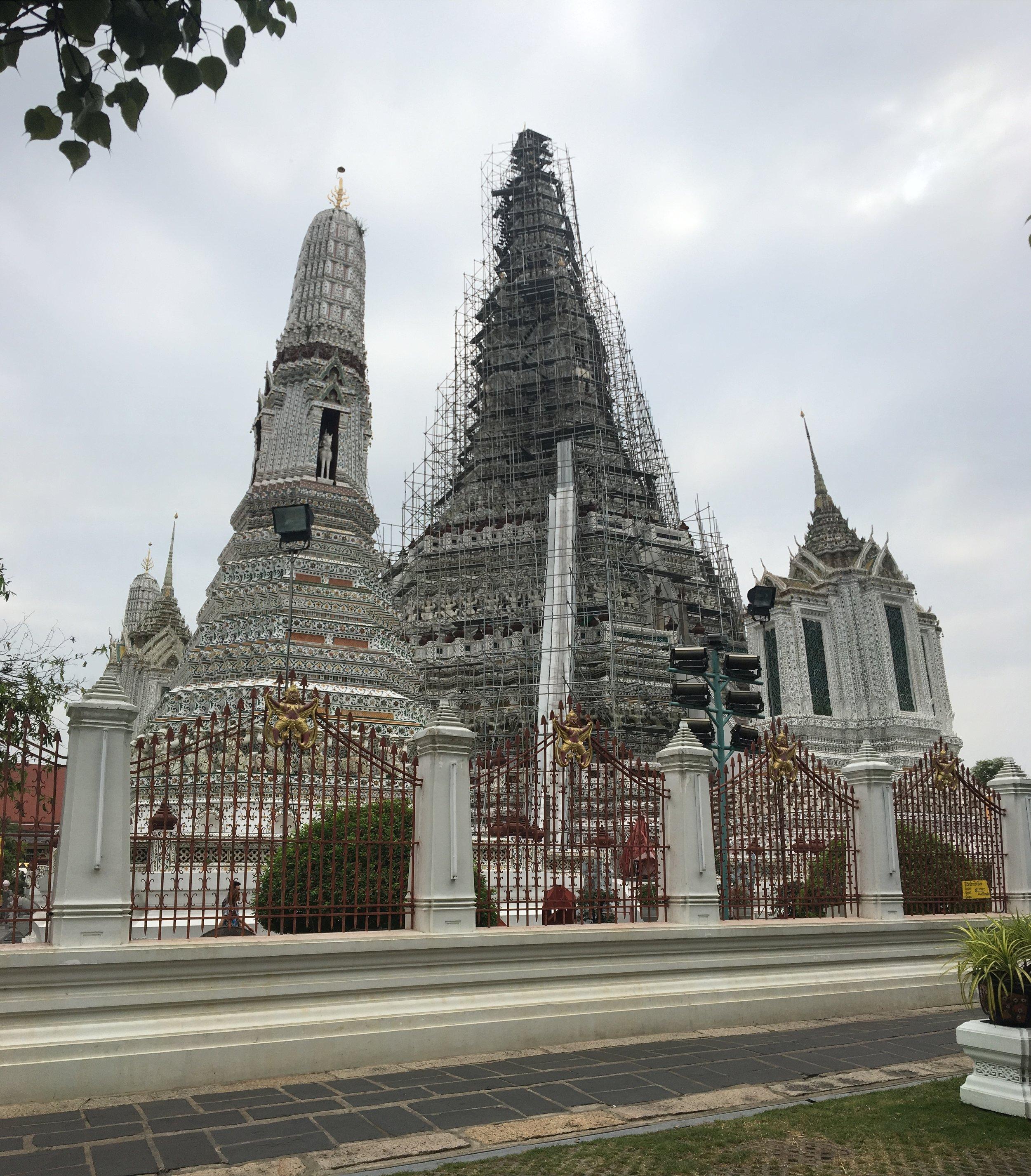 The restoration of Wat Arun