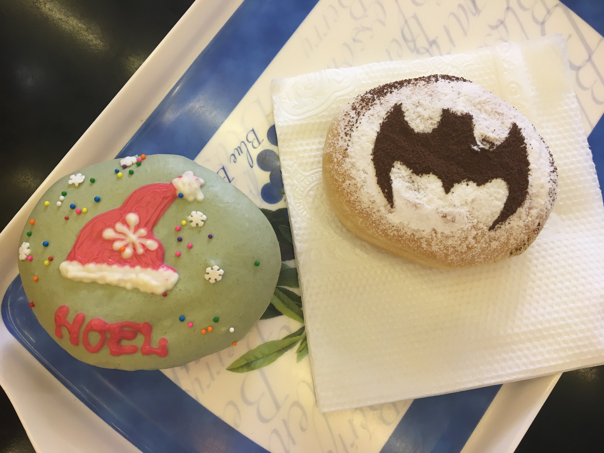Nothing says Christmas like a batman donut