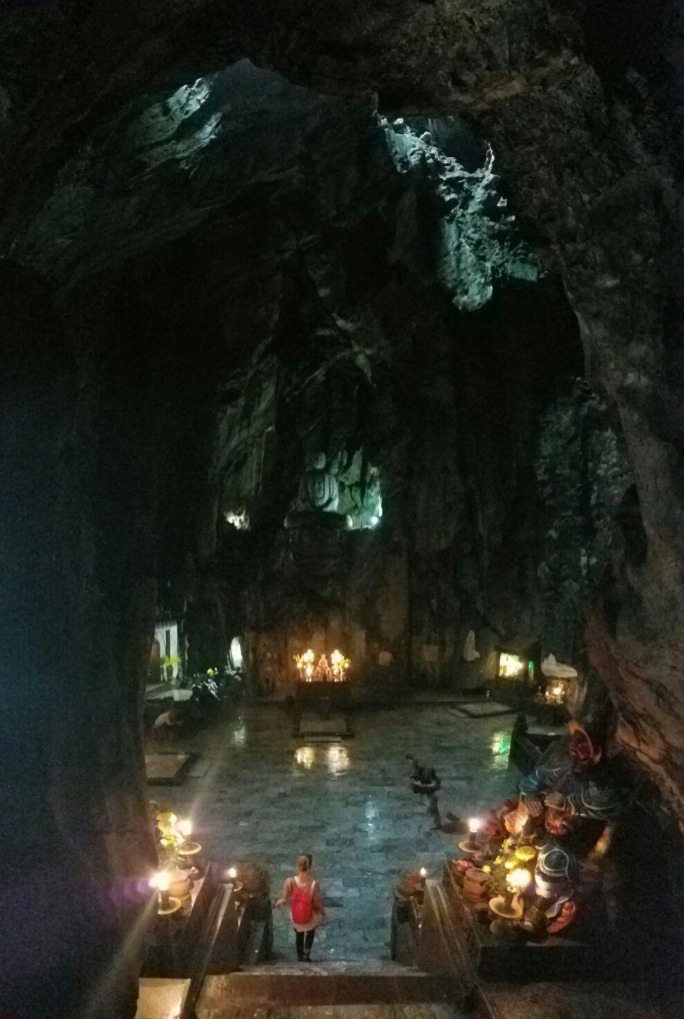 Big cave! Big Buddha! Little Jess!
