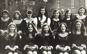 Celine Hession is the black-haired beauty in the center, back row.