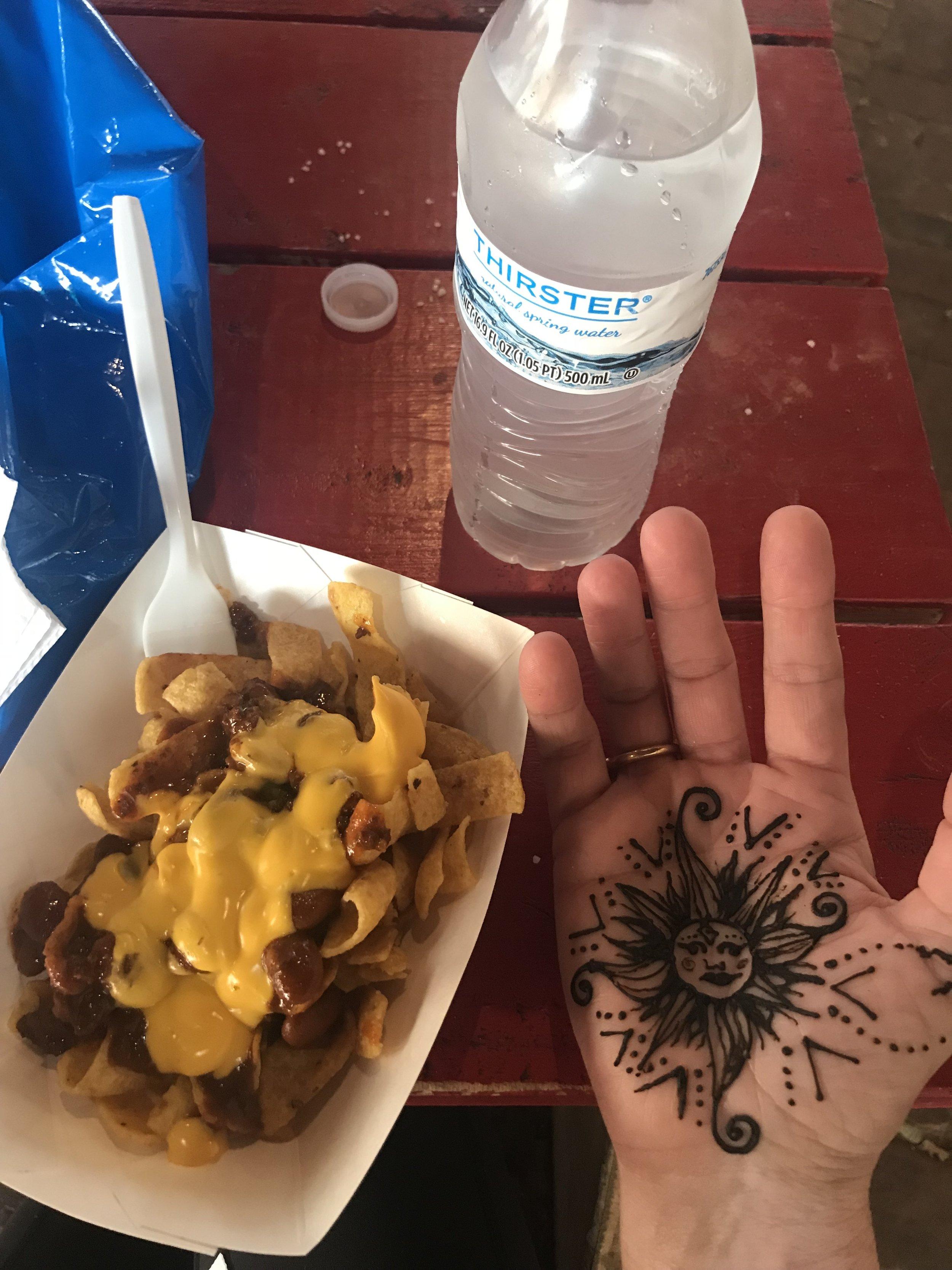 Frito Pie and henna