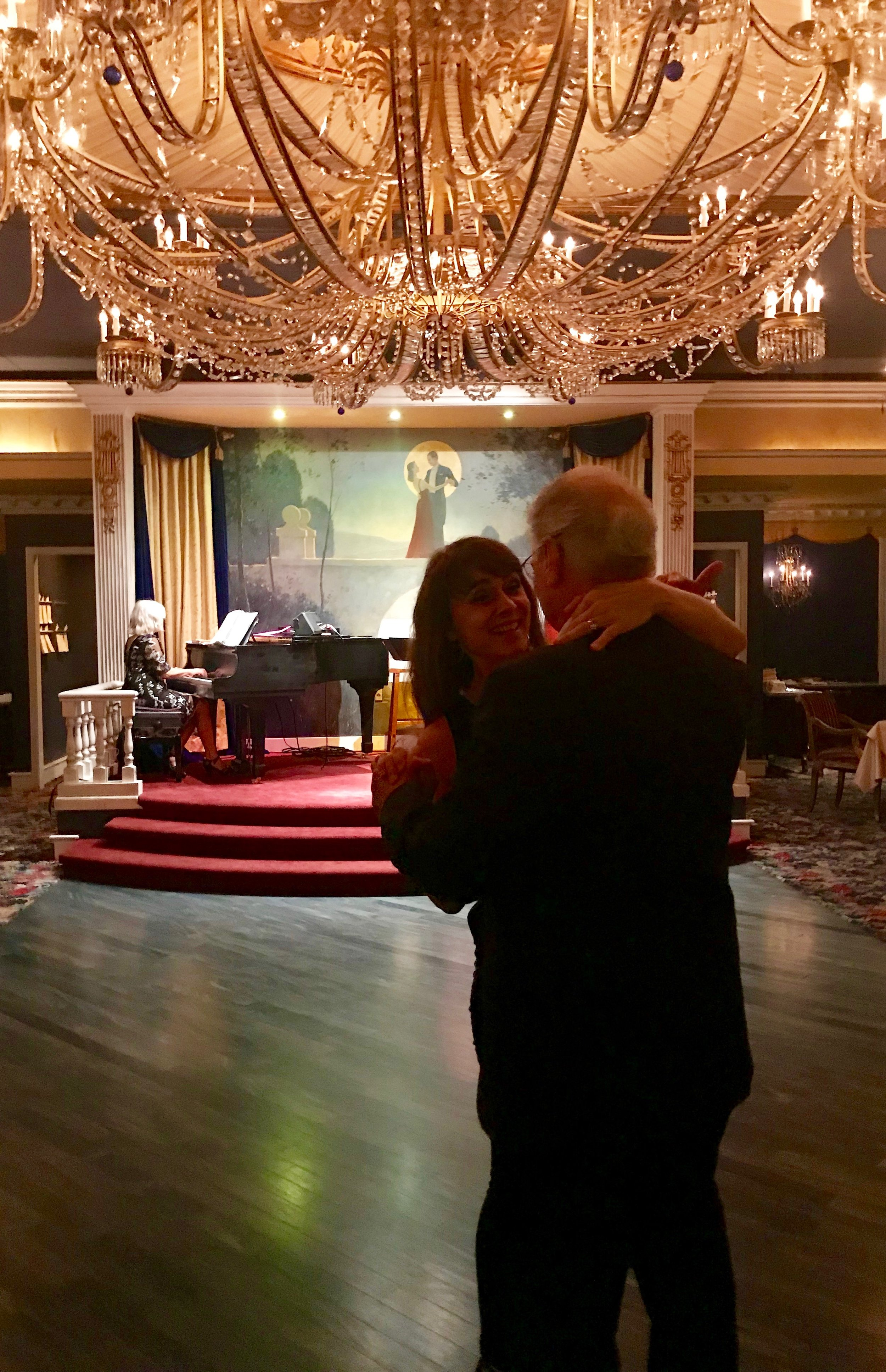 Dancing under the most amazing chandelier EVER!