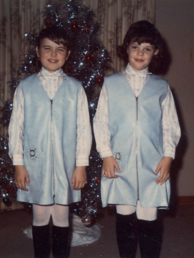 Me and my cousin, Ellen. We were always given matching outfits. 👯