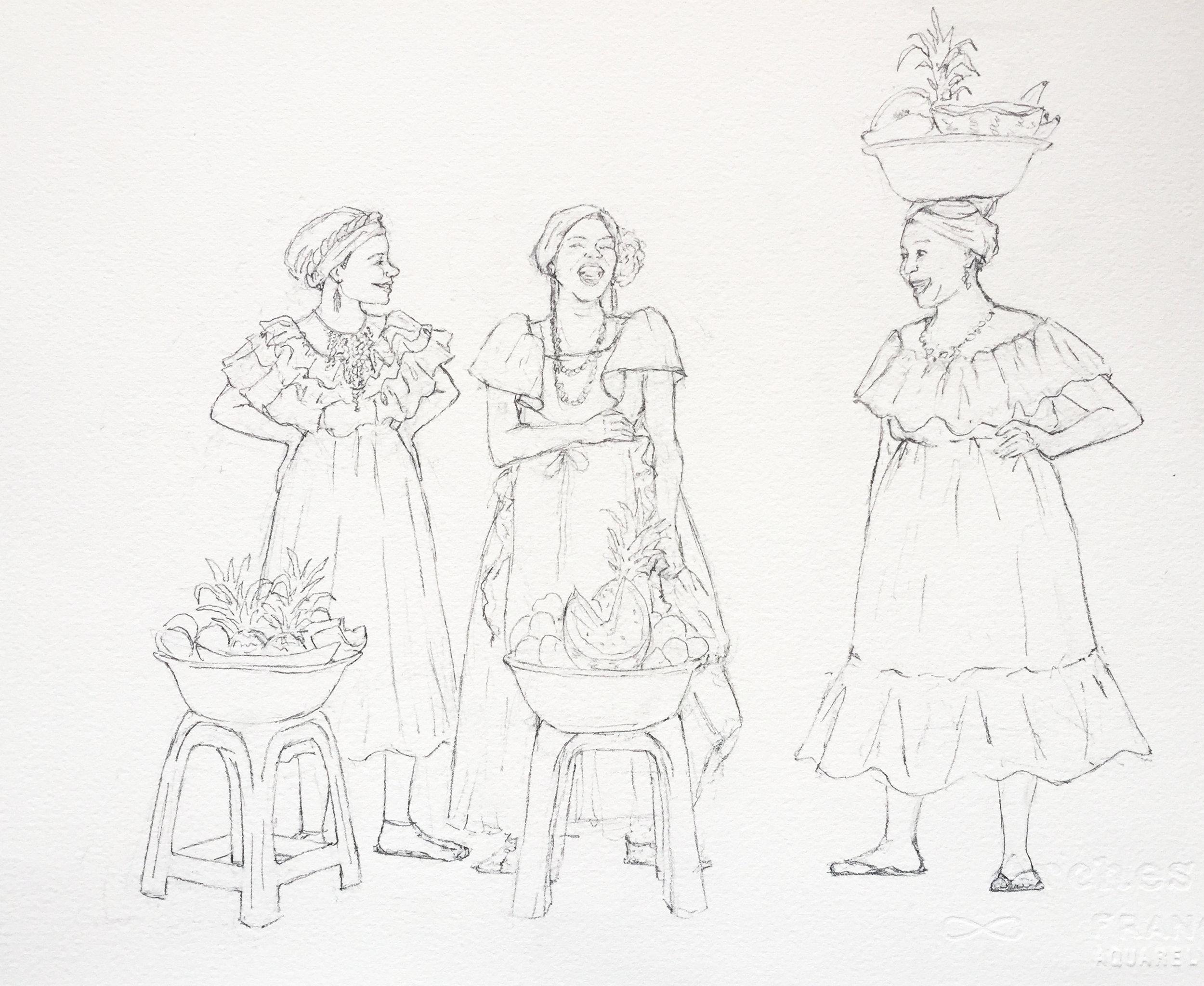 LTC Fruit Ladies Sketch