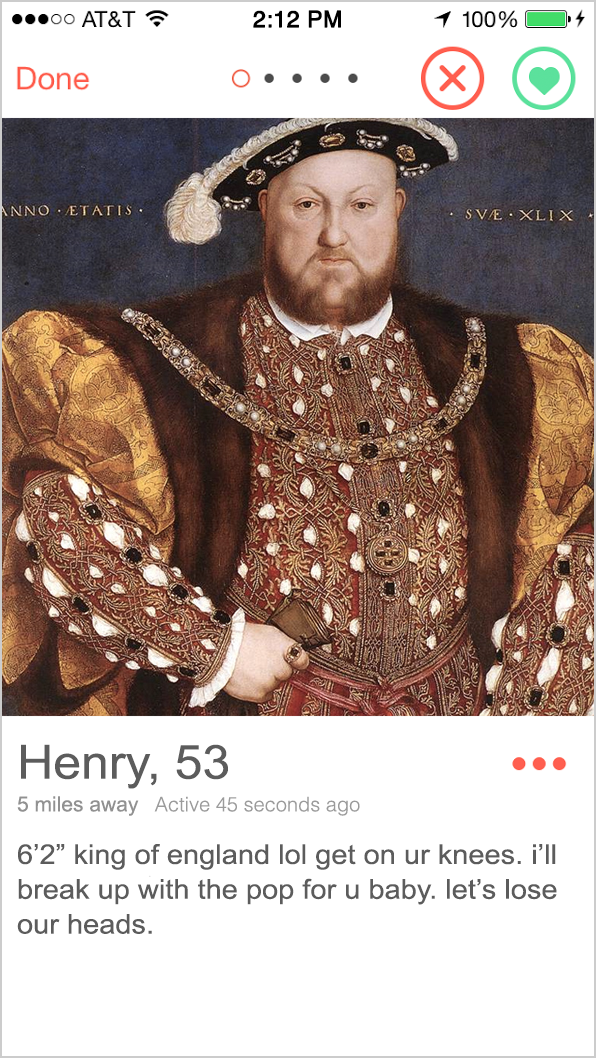 series: if fuckboys of yore had tinder
