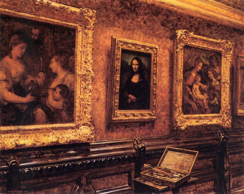Louis Béroud,  Mona Lisa au Louvre , 1911