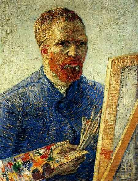 Self-Portrait as an Artist, 1888, oil on canvas, Van Gogh Museum