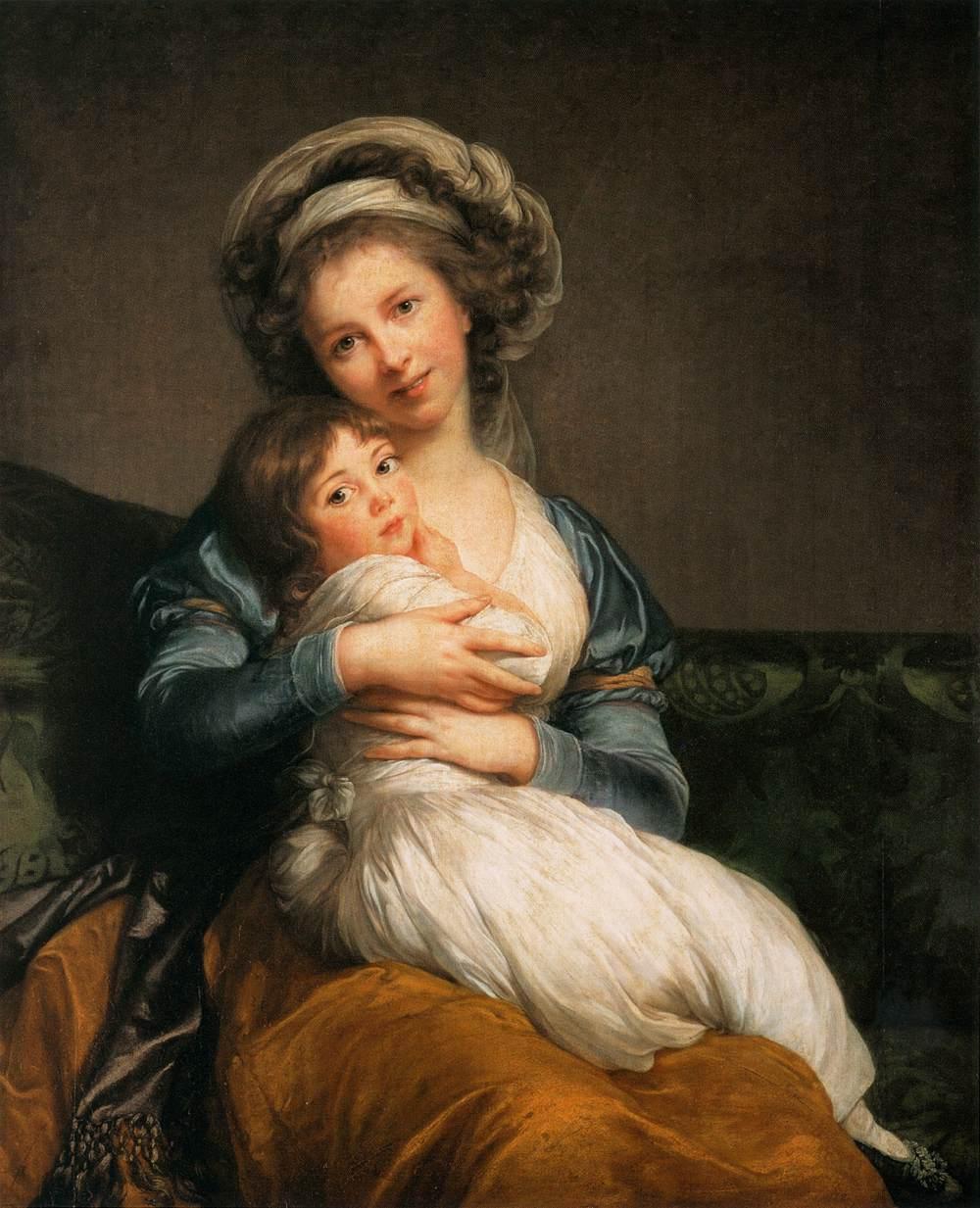 Elisabeth Vigée Lebrun, Self-Portrait with her Daughter, Julie, 1786, oil on panel, Musée du Louvre
