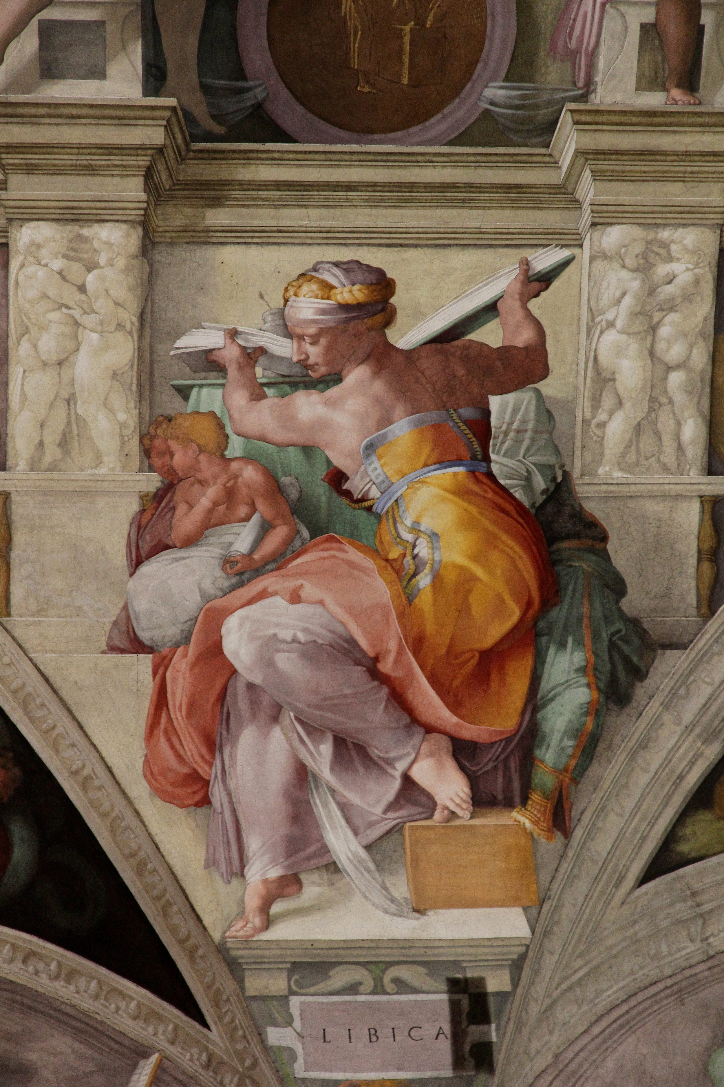 Michelangelo, Libyan Sibyl from the Sistine Chapel Ceiling, painted 1508-1512