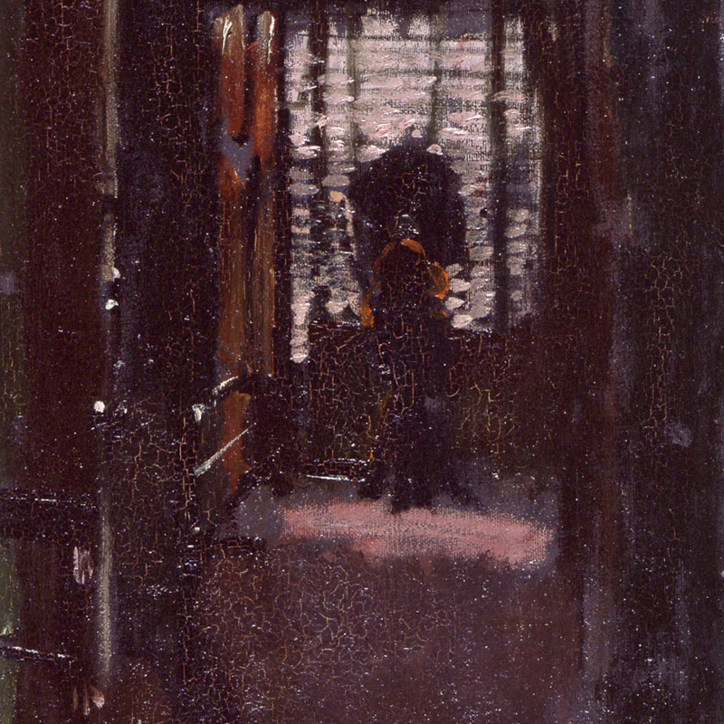 Walter Sickert, Jack the Ripper's Bedroom, c. 1907, oil on canvas, 50.8 x 40.7 cm. Manchester City Gallery.
