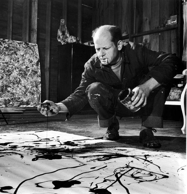 Jackson Pollock in action