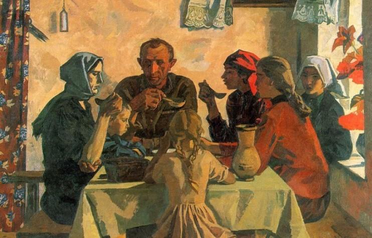 A prime example of Russian Socialist art: Viktor Ivanov, Family, 1964-5
