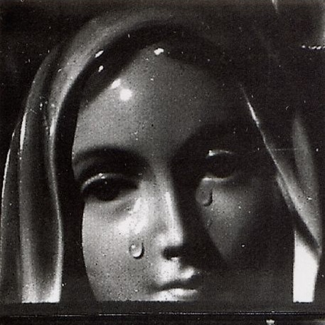 Historical photo of the Weeping Madonna of Syracuse, Sicily, 1950s