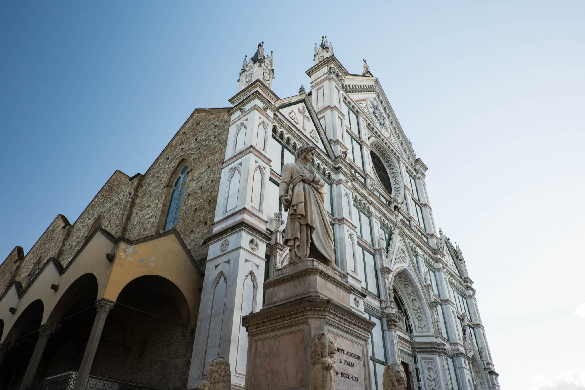 Santa Croce Cathedral, Florence-- the church that inspired Stendahl's fit of madness