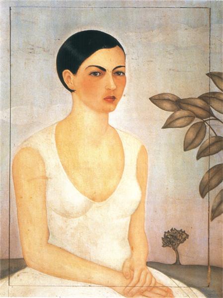 Frida Kahlo, Portrait of My Sister Cristina, 1928