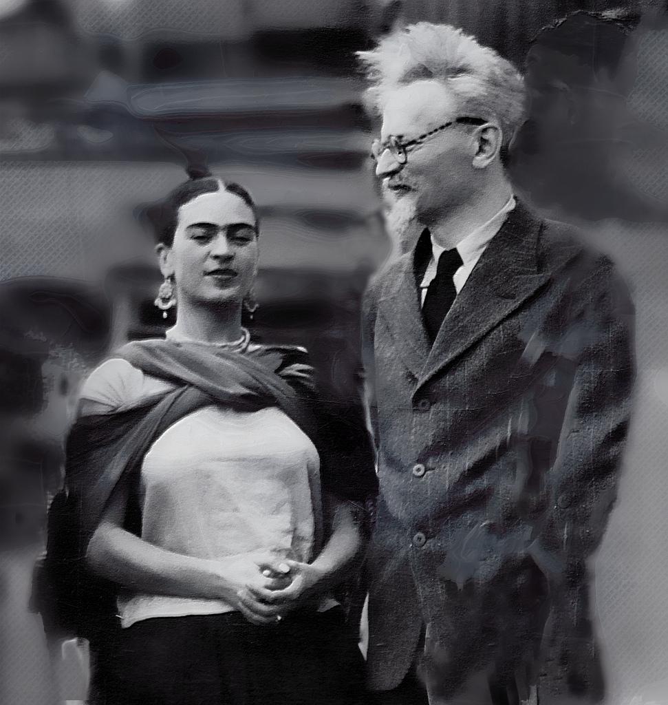 Frida Kahlo and Leon Trotsky, January 1937.