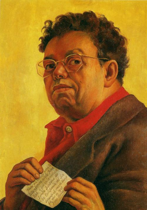 Diego Rivera, Self Portrait Dedicated to Irene Rich, 1941
