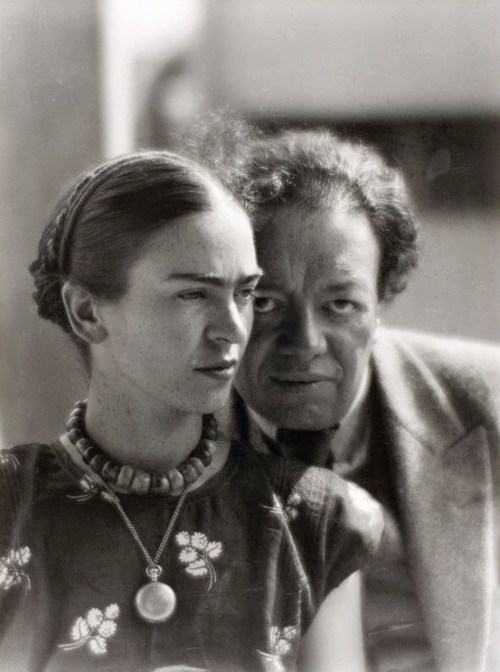 Diego Rivera and Frida Kahlo in Mexico, 1933, Photograph by Martin Munkácsi
