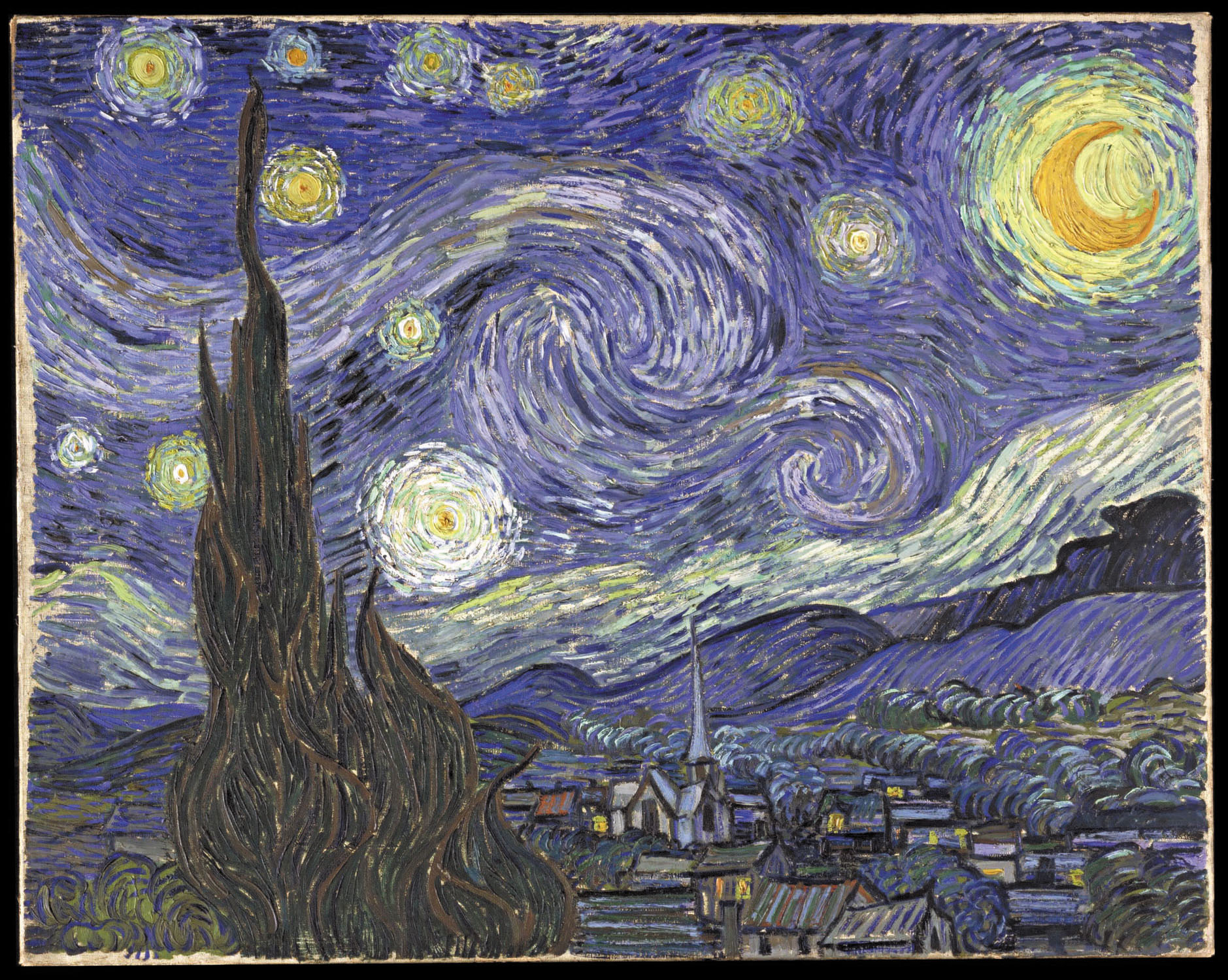 Vincent van Gogh, The Starry Night, 1889, oil on canvas, 73.7 x 92.1 cm. (The Museum of Modern Art)