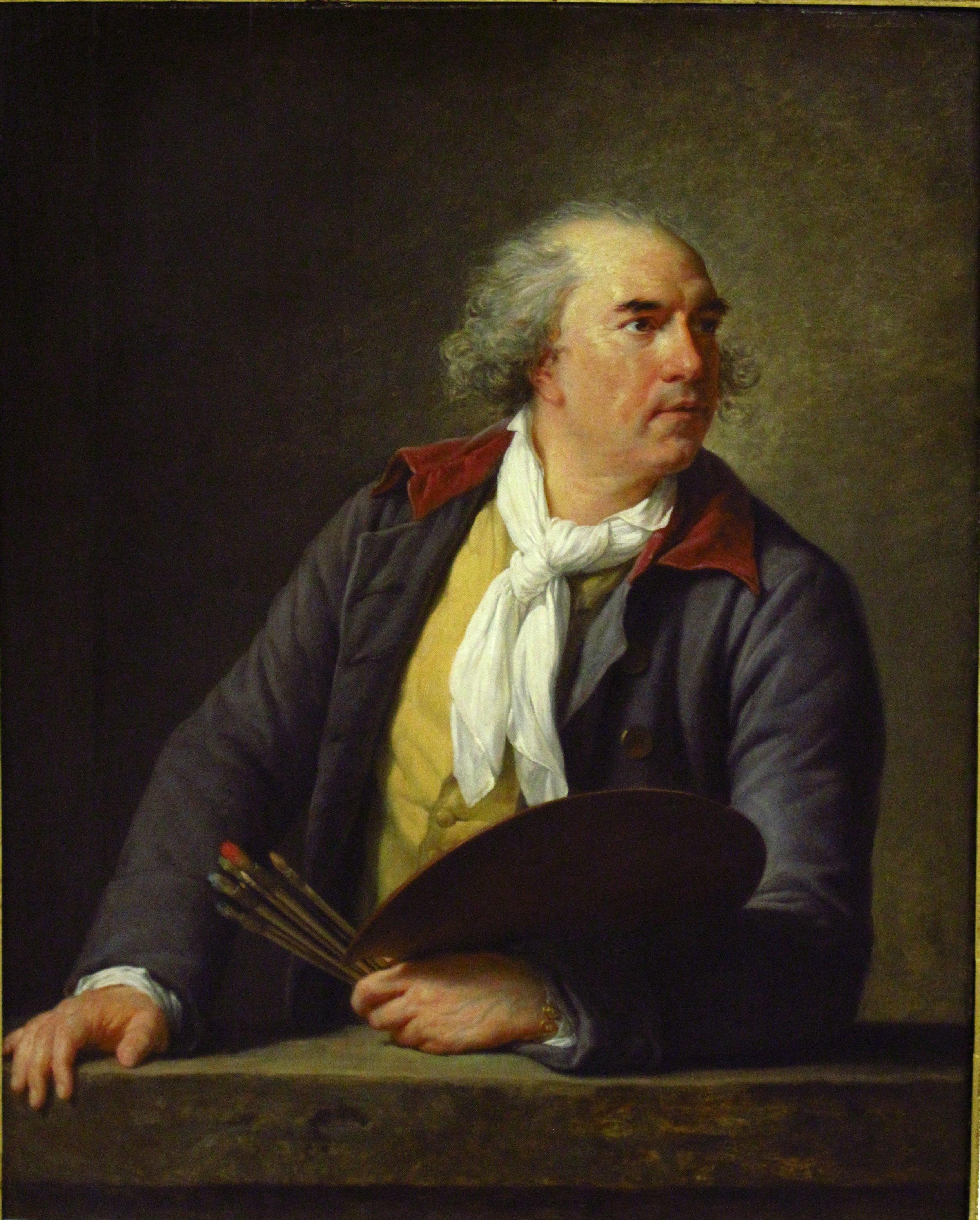 Elisabeth Vigée Lebrun, Hubert Robert, 1788, oil on canvas, Musée du Louvre