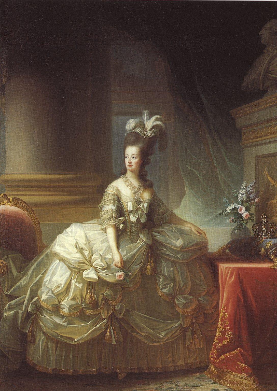 Elisabeth Vigée Lebrun, Marie Antoinette, 1778, oil on canvas, Kunsthistoriches Museum