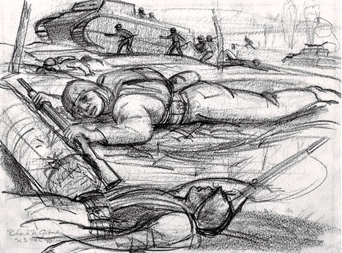 Richard M. Gibney, Sketch of Dead Soldiers, date unknown