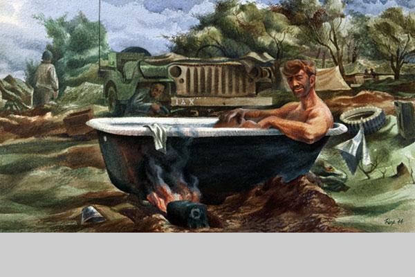Edward Reep, Soldier Taking a Bath