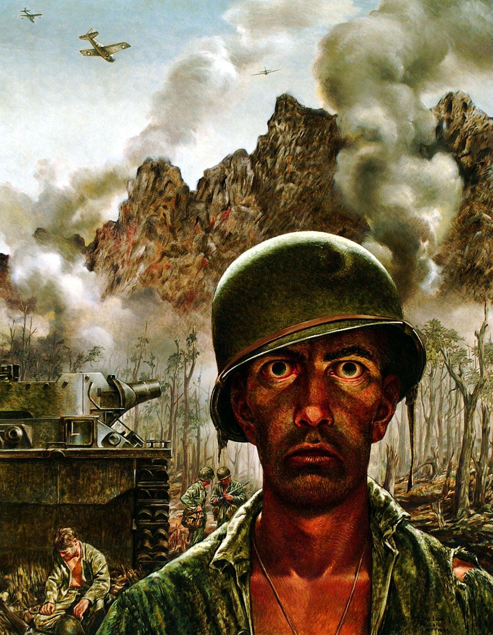 Tom Lea, The 2,000-Yard Stare, 1944. Oil on canvas.