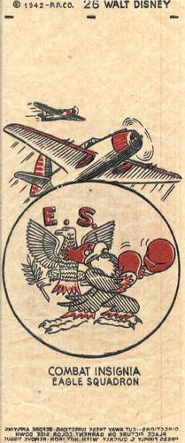 Combat insignia designed by Disney animators, 1942