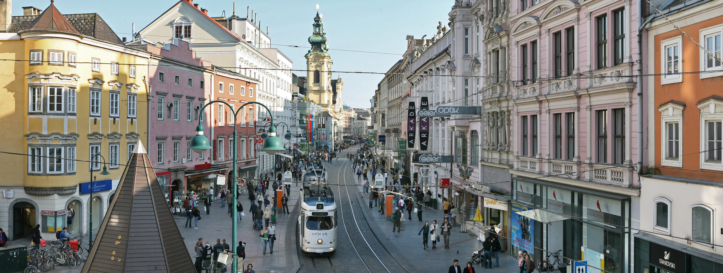 A view of Linz, Austria-- the proposed location of Hitler's cultural capitol