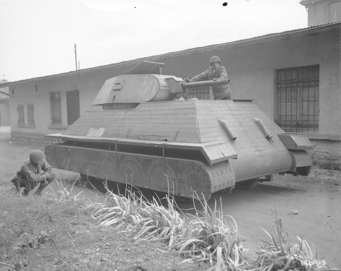 A cardboard tank prototype