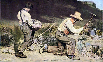 Gustave Courbet, The Stone Breakers, 1849–50 (destroyed during WWII)