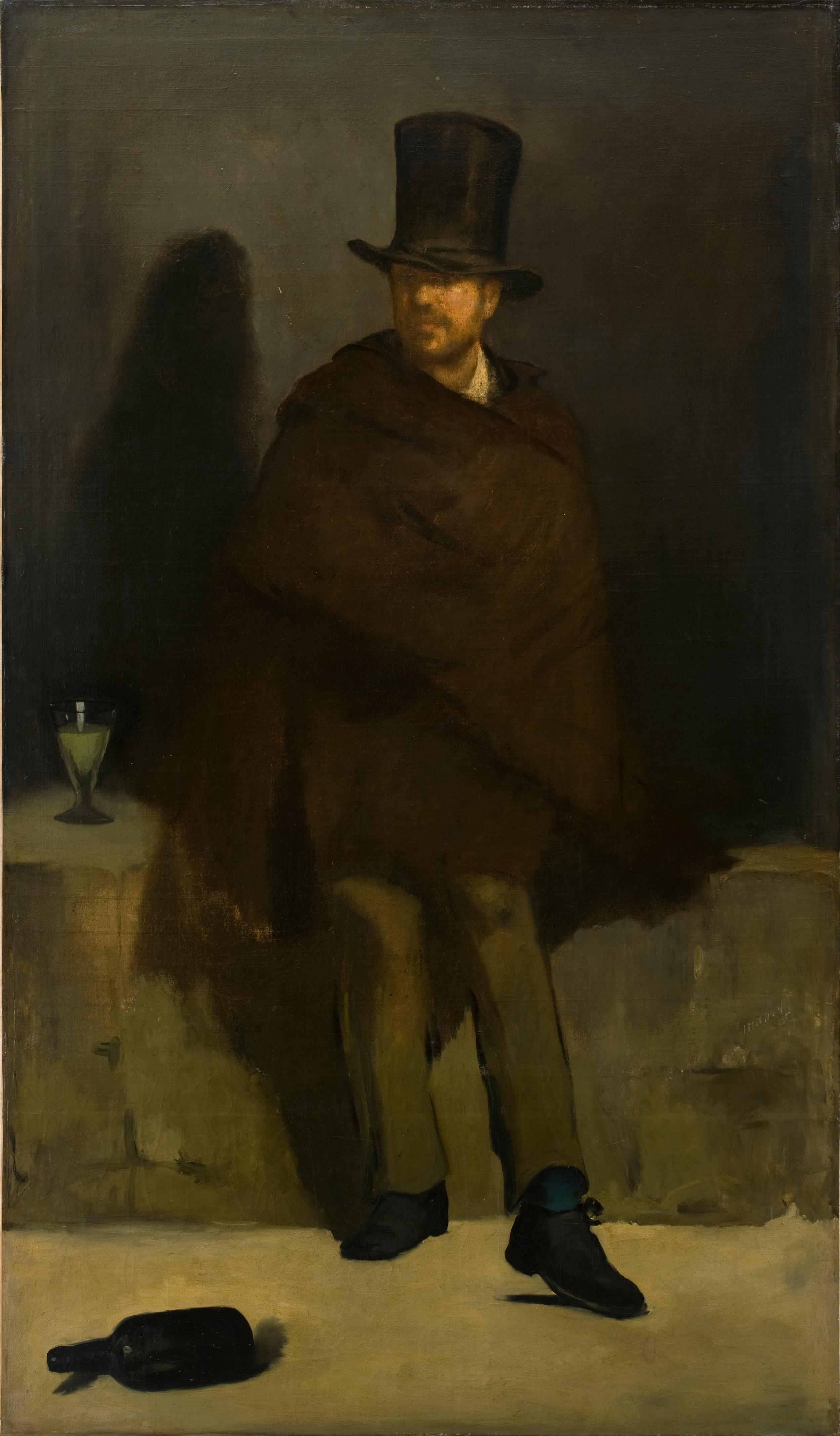 Edouard Manet, The Absinthe Drinker, 1859 (detail)