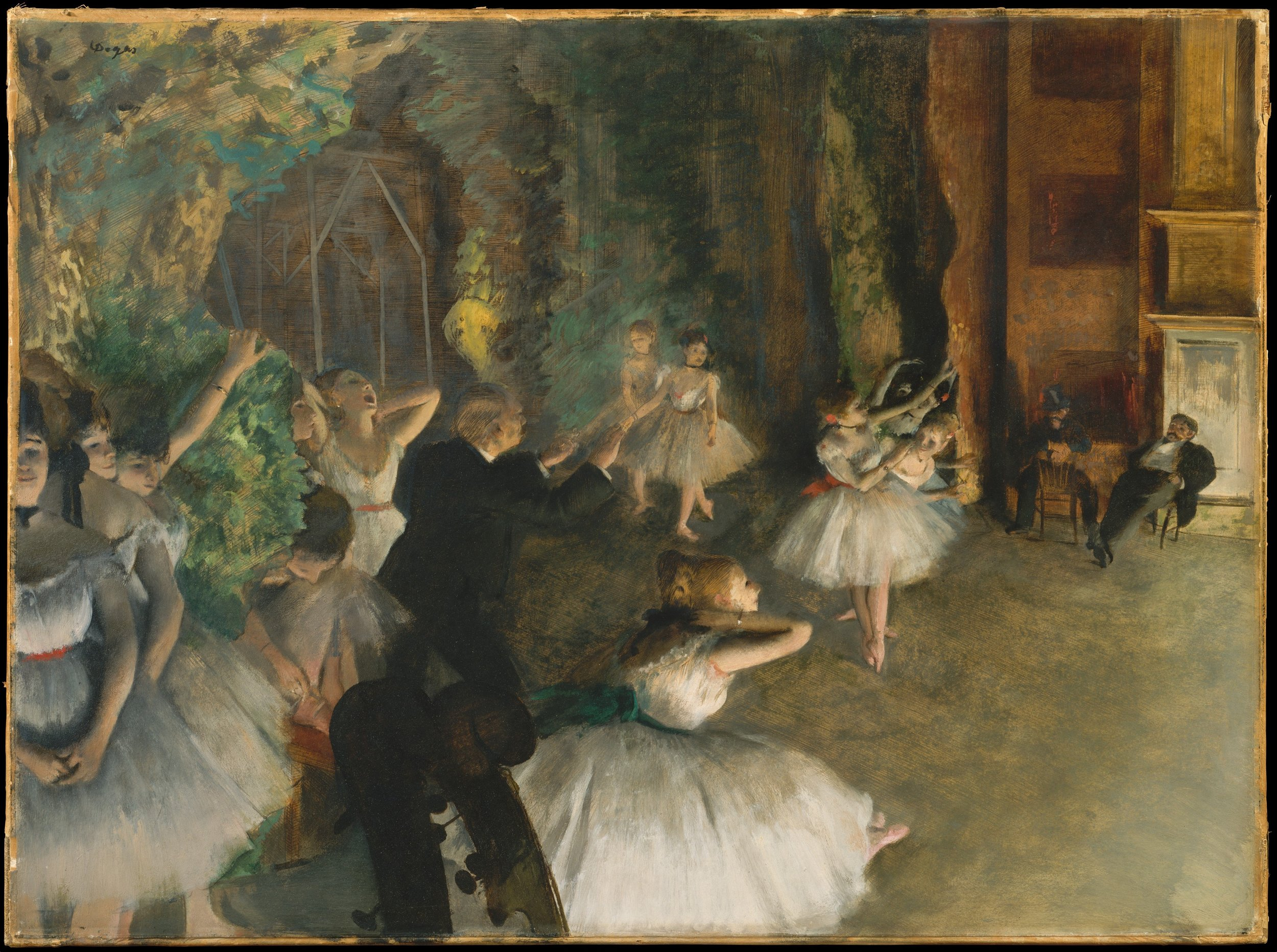 Edgar Degas, The Rehearsal of the Ballet Onstage, 1874