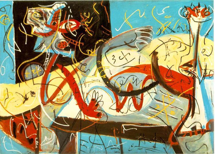 Jackson Pollock, Stenographic Figure, c. 1942