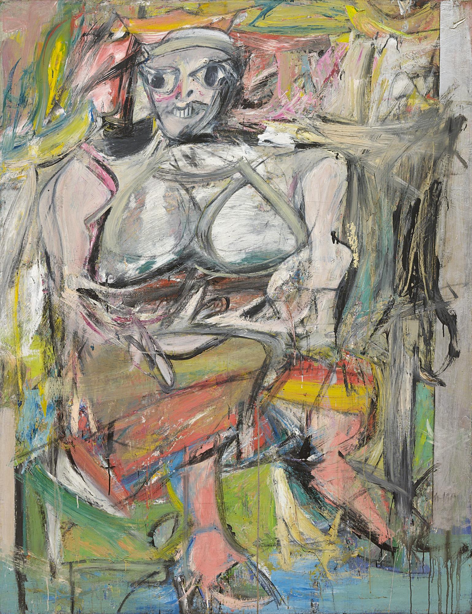 Willem de Kooning, Woman I, 1950-1952
