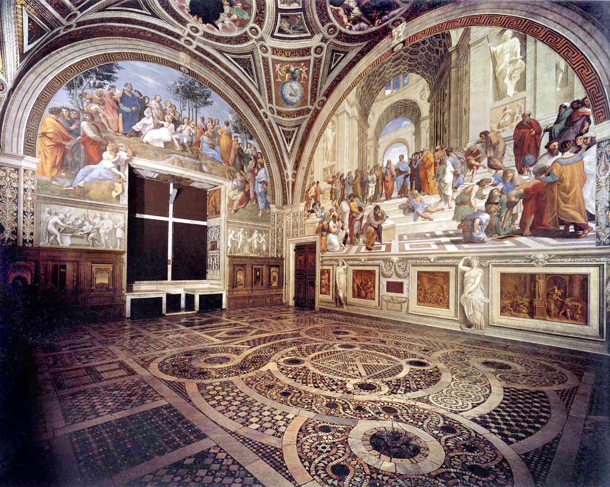 Raphael, view of the Stanze della Segnatura, c. 1508 onward