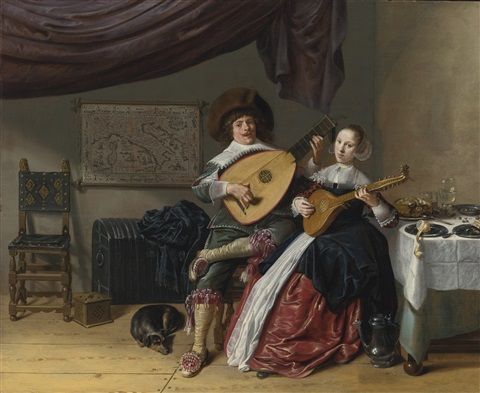 Jan Miense Molenaer,  The Duet: A Self-Portrait of the Artist with his Wife, Judith Leyster, Probably Their Marriage Portrait), c. 1636