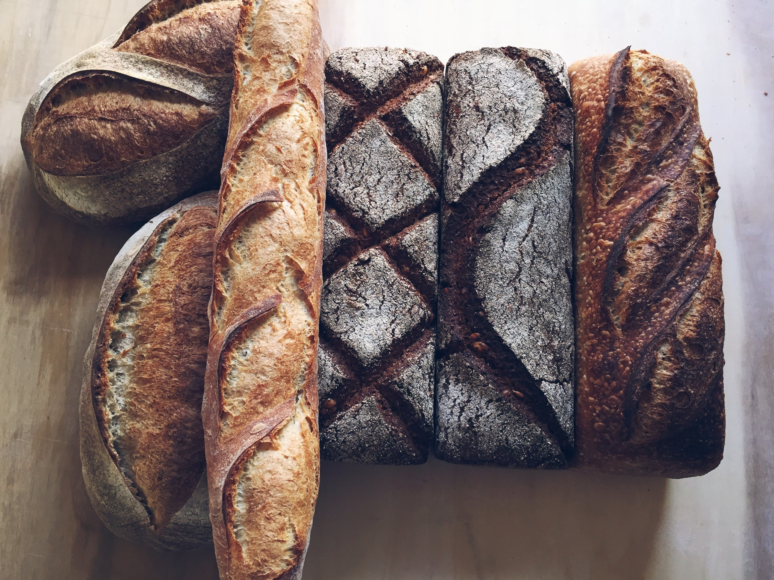 breads (batards, baguette, vollkornbrot, country sourdough).jpg