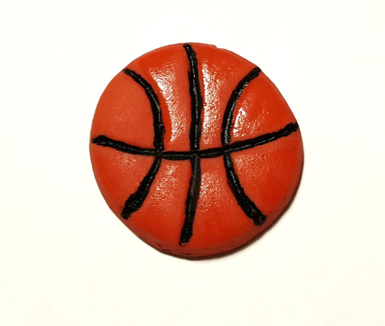 Basketball Cupcake Topper